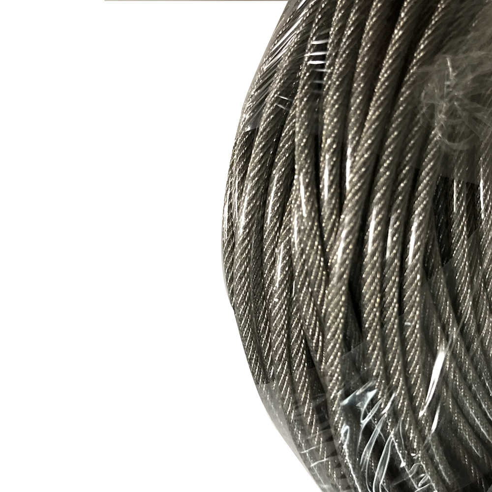 PVC Plastic Coated Stainless Steel Wire RopeOverall Diameter 3mm Wire Clothesline 3.0MM Wire Rope With 2.0MM Stainless Steel