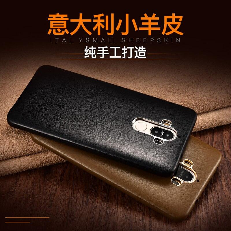 imágenes para Original XOOMZ Huawei Mate 9 Caso de Lujo Sensación de Tacto Súper Genuino de cuero Delgada de La Cubierta Del Teléfono Casos Funda Para Huawei Mate 9