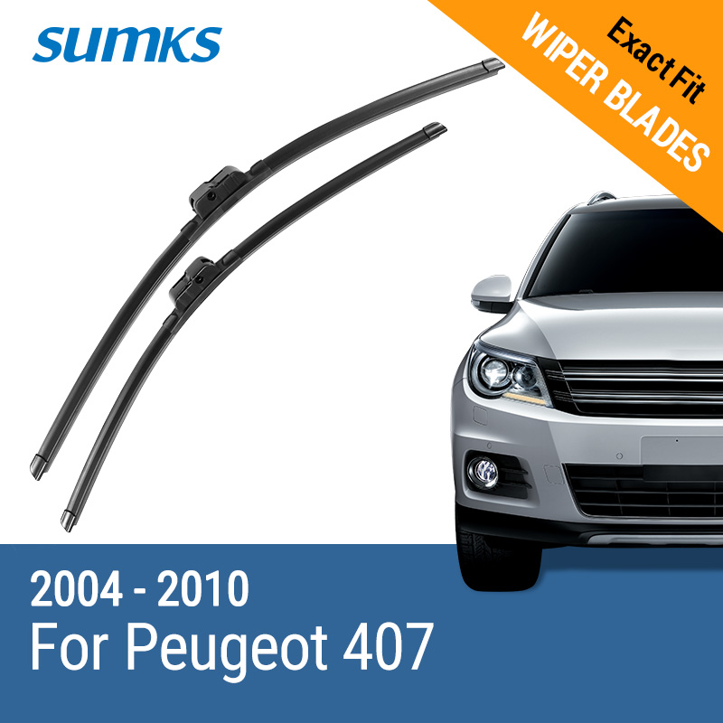 SUMKS Wiper Blades for Peugeot 407 28& 28 Fit Side Pin Arms 2004 2005 2006 2007 2008 2009 2010