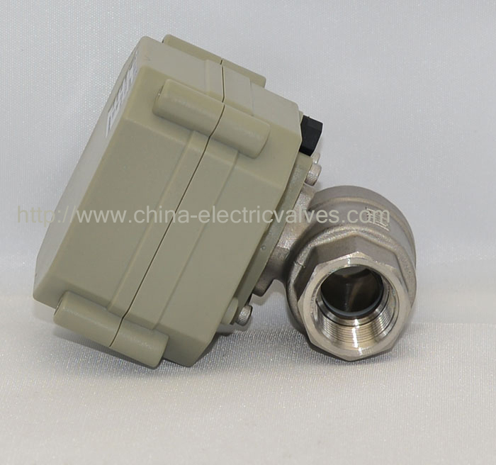 ФОТО Shipping Free DN15 DC12V 5 Wires DN15 Stainless Steel 2-Way Electric Valve With Indicator and Signal Feedback TF15-S2-C