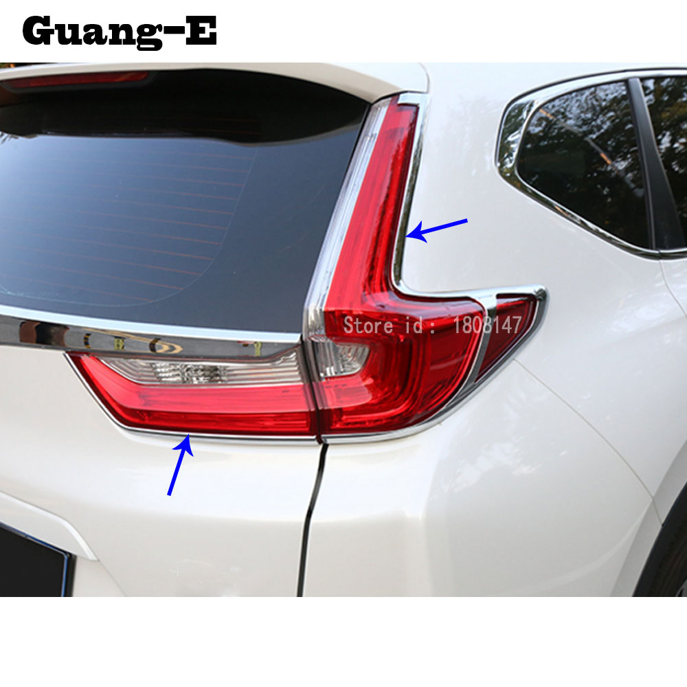For Honda CRV CR-V 2017 2018 2019 Car Sticker Body Cover Trim Tail Light Rear Back Frame Car Lamp Parts Moulding Panel 4pcs