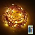 30CM 100 LEDs led Decoration LED Copper Wire Fairy String Light Lamps for Christmas Holiday Wedding Party Garland Decoration