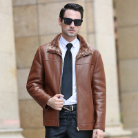 Brand Winter Jacket Men Men S Leather Coats Men Fur Collar Thick Winter Coat Business High