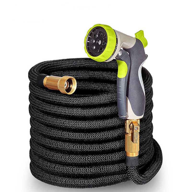 Garden Water Hose 25-100FT Expandable Magic Flexible Hoses For Car Pipe Plastic To Watering With Spray Gun