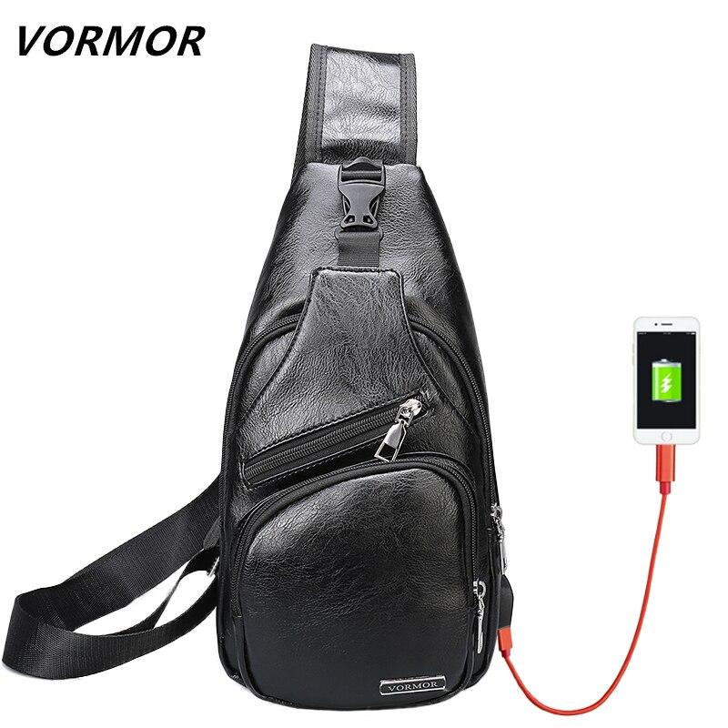 Сумки через плечо для Для мужчин сумка-мессенджер Грудь пакет Повседневное сумка Водонепроницаемый из искусственной кожи один плечевой ре…