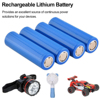 1/2/4/8/12 pièces/ensemble haute capacité 18650 3.7 v 2000 mah 18650 batterie Rechargeable au Lithium pour piles de lampe de poche