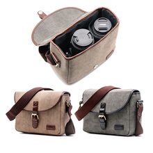 Retro Waterproof Camera Bag Photography Package DSLR Shoulder Case for Sony Nikon Canon Canvas Micro Single Messenger Men Women