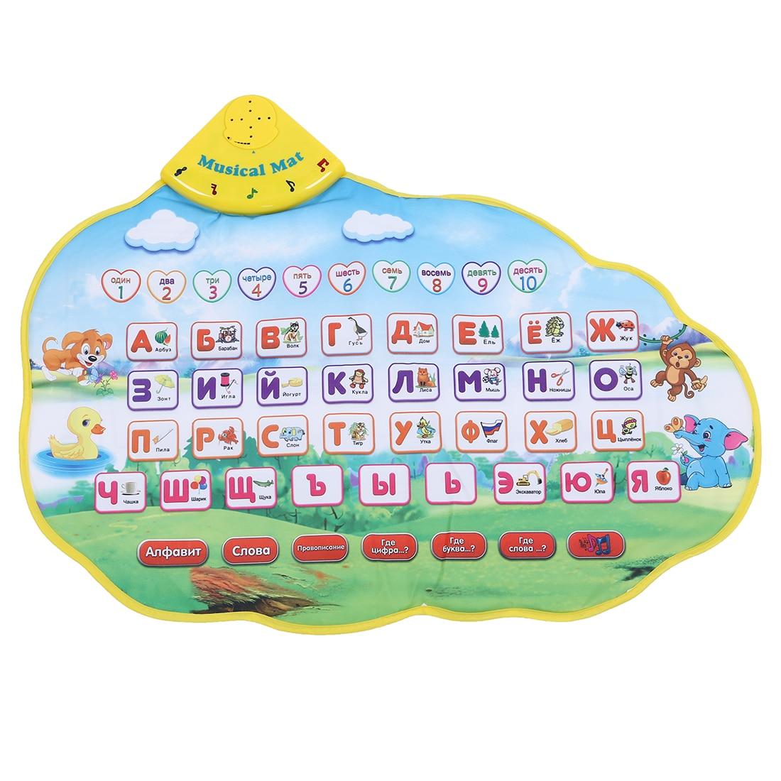 Paquet de 5 tapis d'apprentissage pour enfants jouet en langue russe tapis Alphabet drôle apprentissage éducation phonétique son tapis ABC jouet