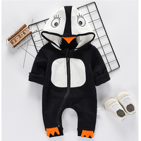 New Baby Clothing Autumn Winter Wear Boys Girls Clothes Lovely Cartoon Style Jumpsuit Cotton Long Sleeved