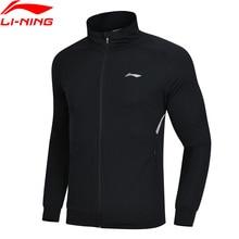 Li-Ning мужской тренировочный свитер с капюшоном, облегающие спортивные топы с подкладкой из полиэстера AWDN357 MWW1402