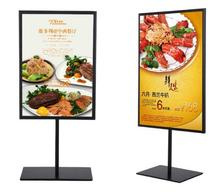 Double-sided poster stand A3&A4 metal cafe table sign advertising promotion desk display stand rack free shipping free shipping metal table white paint poster stand poster display banner stand sign stand a4 a3 tabletop display
