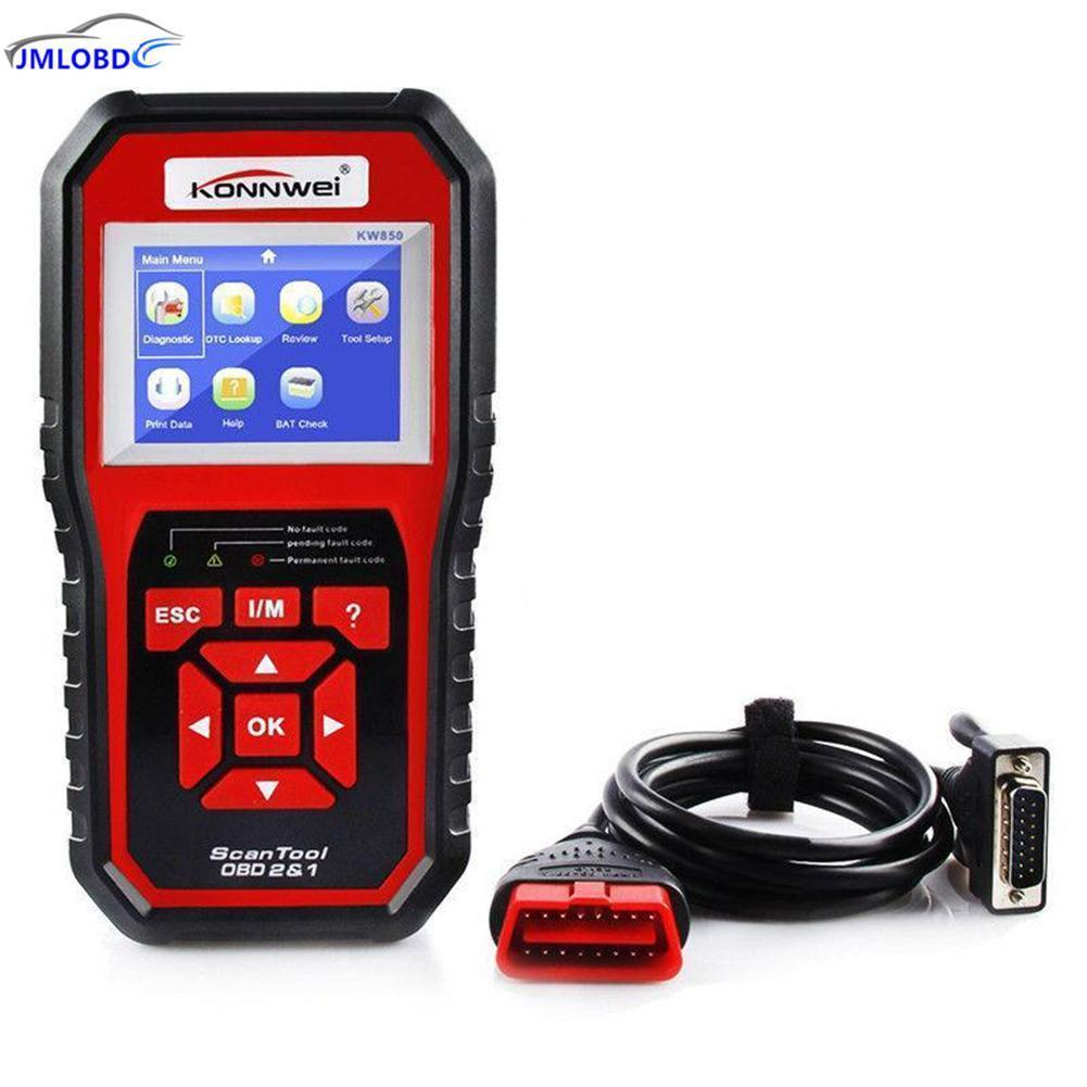 KONNWEI KW850 OBD2 EOBD Car Diagnostics Auto Scanner Automotive Fault Code Reader Diagnostic tool Car detector Automotive Tool 2017 latest konnwei diagnostic code reader car fault auto scanner tool kw830 obdii eobd car detector automotive tool