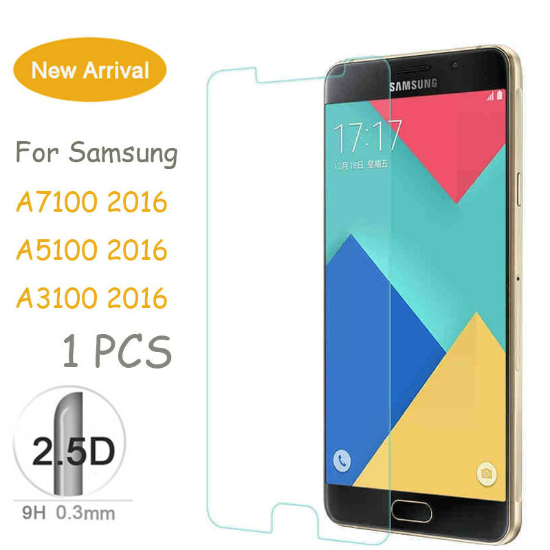 NEW! 9H 2.5D 0.26mm Screen Protective For Galaxy A3 A5 A7 J3 J5 J7 2015 2016 Tempered Glass Film For Samsung