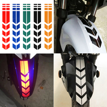 Motorcycle Reflective Stickers Wheel on Fender Waterproof Safety Warning Arrow Tape Car Decals Motorbike Decoration Accessories(China)