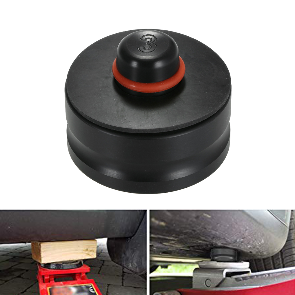 1pcs Jack Lift Point Pad Adapter Jacking Disk  Pad Tool Chassis Dedicated For Pinch Weld Side Lifting Disk Fit For Tesla Model 3