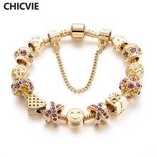 Подвески chicvie браслеты и обручи Фиолетовый Кристалл улыбка