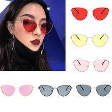 Ретро, кошачий глаз, солнцезащитные очки для женщин, желтые, красные линзы, солнцезащитные очки, модный светильник, вес, солнцезащитное стекло для женщин, винтажные металлические очки