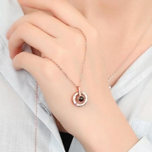 hot deal buy  climbers new rose gold white k 100 language i love you necklace custom 14cmcoper pendant romantic love memory wedding necklace