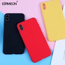EIRMEON Case For iPhone XS Max Case For XR 6 6s 7 8 Plus X 5 5s SE Candy Color Ultra thin Frosted Soft TPU Phone Back Covers стоимость
