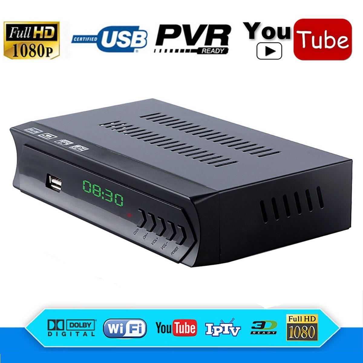 N/S In America Full HD FTA DVB-S2 Decoder Ricevitore Satellitare Digitale IPTV Player RJ45 Lan Wifi Youtube iks Cline newcam Biss vu EPG