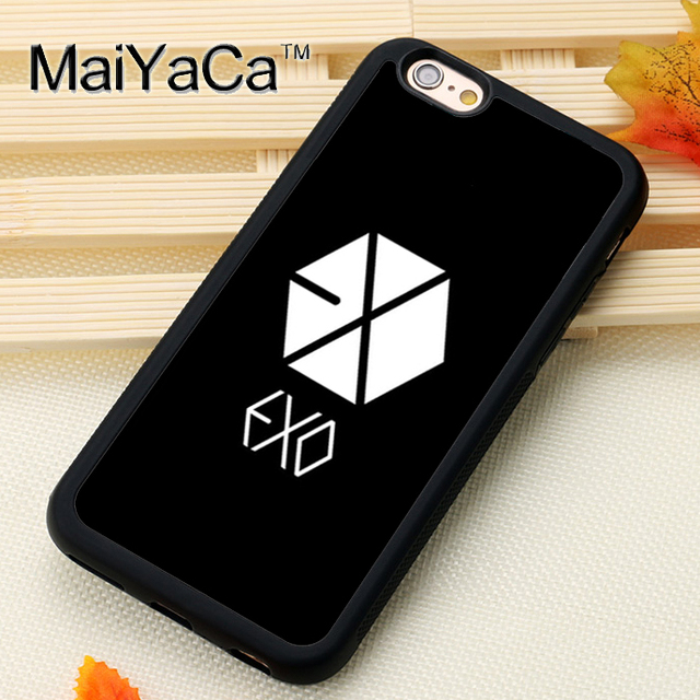 best sneakers 2d956 72222 US $4.36 5% OFF|MaiYaCa Exo Kpop For iPhone 6 iPhone 6s Case Soft Rubber  TPU Phone Cases Cover For Apple iPhone 6 6s Coque-in Fitted Cases from ...