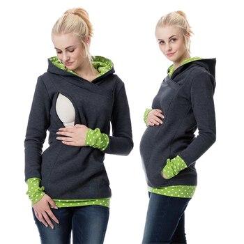 0d45835c378 2018 licencia de maternidad lactancia materna Sudadera con capucha de otoño  e invierno las mujeres embarazadas ropa lactancia ropa para las madres  lactantes ...