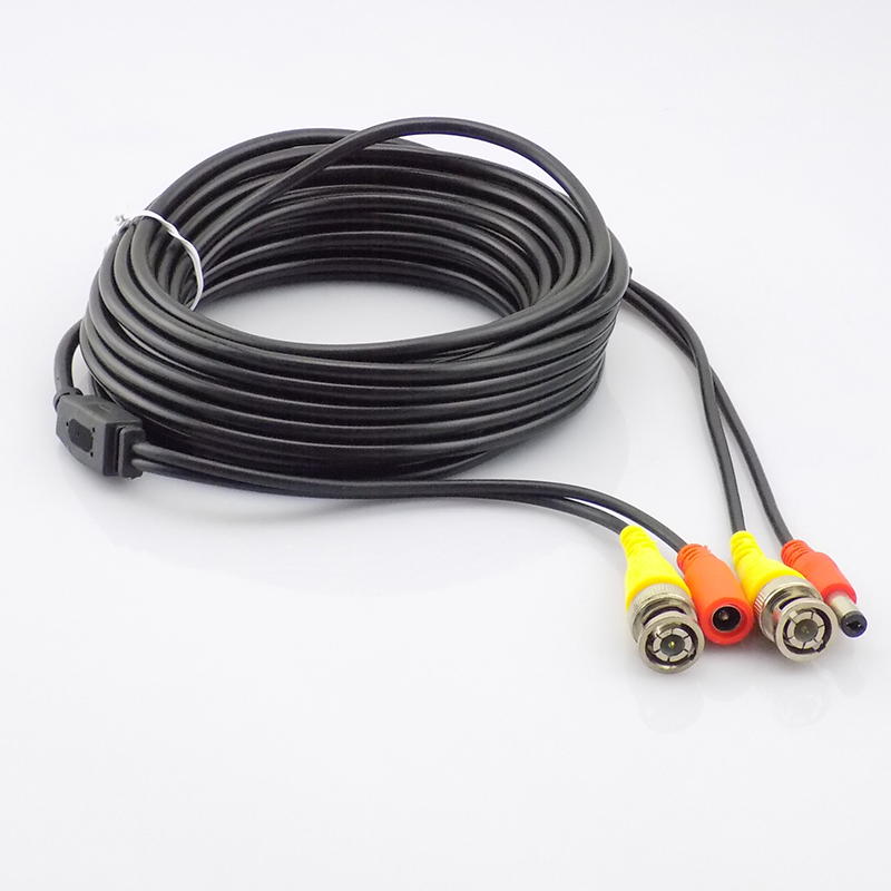 10m CCTV Cable DC Power Connector with Male BNC Connector Power Supply Adapter for CCTV Camera Coaxial Cable CCTV System DVR NVR