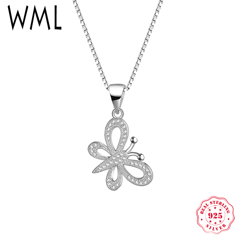 WML Genuine Solid 925 Sterling Silver necklaces & pendants