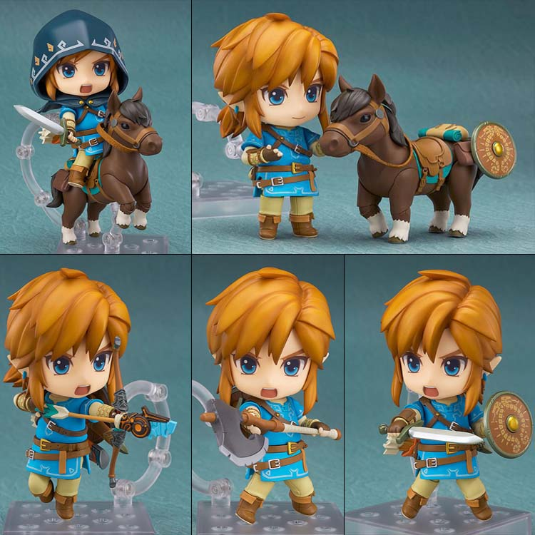 10CM pvc Japanese anime figure 733 nendoroid The Legend of Zelda Breath of the Wild Link Q version  posture  action figure japan warring states warriors q version of the war era of japanese samurai toy model decoration collection 7pcs set