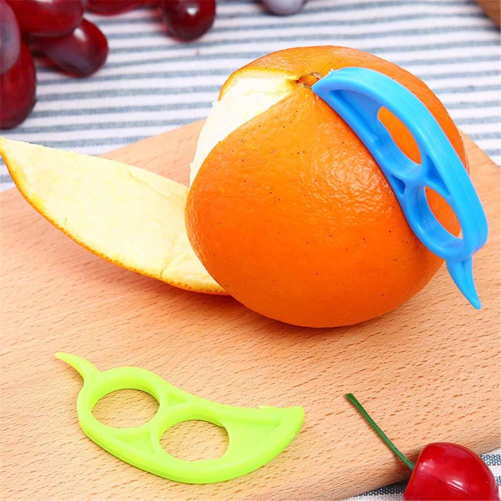 5 unids/lote increíble creativo de mano de manga de dedo limón cebolla tomate fruta rebanadora naranja peleles zesters utensilios de cocina gadgets