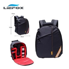 Upgrade Waterproof Digital SLR Photo Padded Backpack With Rain Cover Multi-functional DSLR Camera Soft Bag Video Case