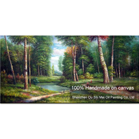 新しいハンド塗装ロシア風景油絵壁の装飾アート模
