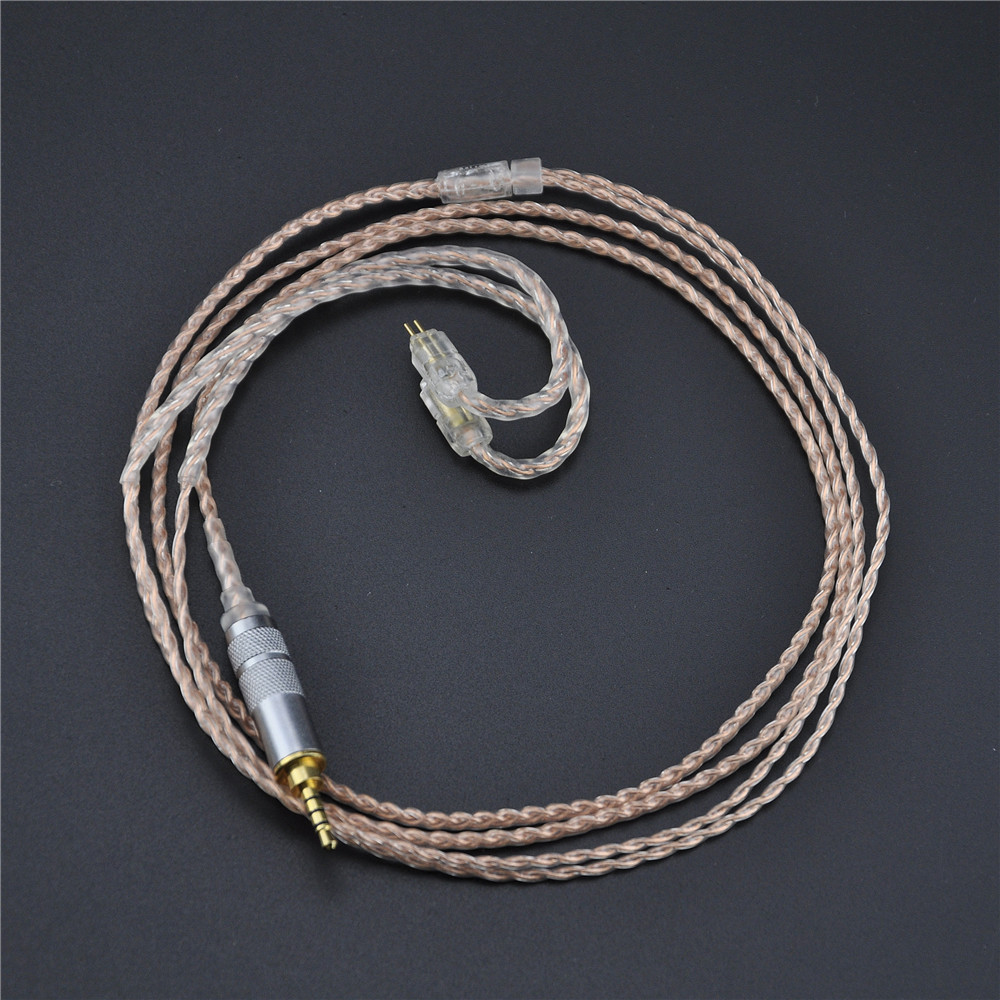New 2.5mm KZ ZS3 ZS5 Cable 2pin Silver Plated And Copper Upgraded Earphone Cable new 2pin 0 78 pin 4 cell single crystal copper plated silver cable earphone upgrade cable for custom earphone