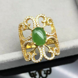 Image 5 - KJJEAXCMY Edlen schmuck 925, sterling silber überzogene natürliche jasper damen gold ring