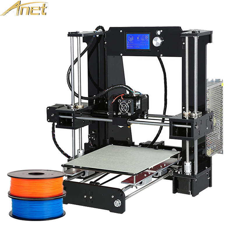 Anet A8 A6 3d printer High Precision Reprap DIY 3D Printer Kit Easy assemble With 12864 LCD Screen Display Free Filament 2017 new anet easy assemble 3d printer upgrated reprap prusa i3 3d printer large print size kit diy with filament 16gb sd card