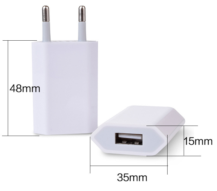 Universal EU Plug for iPhone 7 Plus 6 6S USB Power Home Wall Charger Adapter for iPhone 4S 5 5S 5C SE Travel Adapter For Samsung