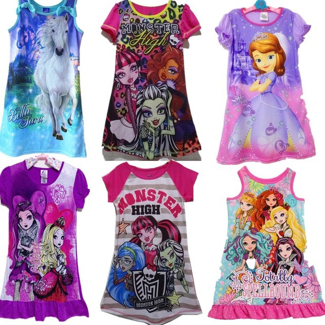 ab4699524 Newest Ever after high dress baby girl clothing Monster high dress ...
