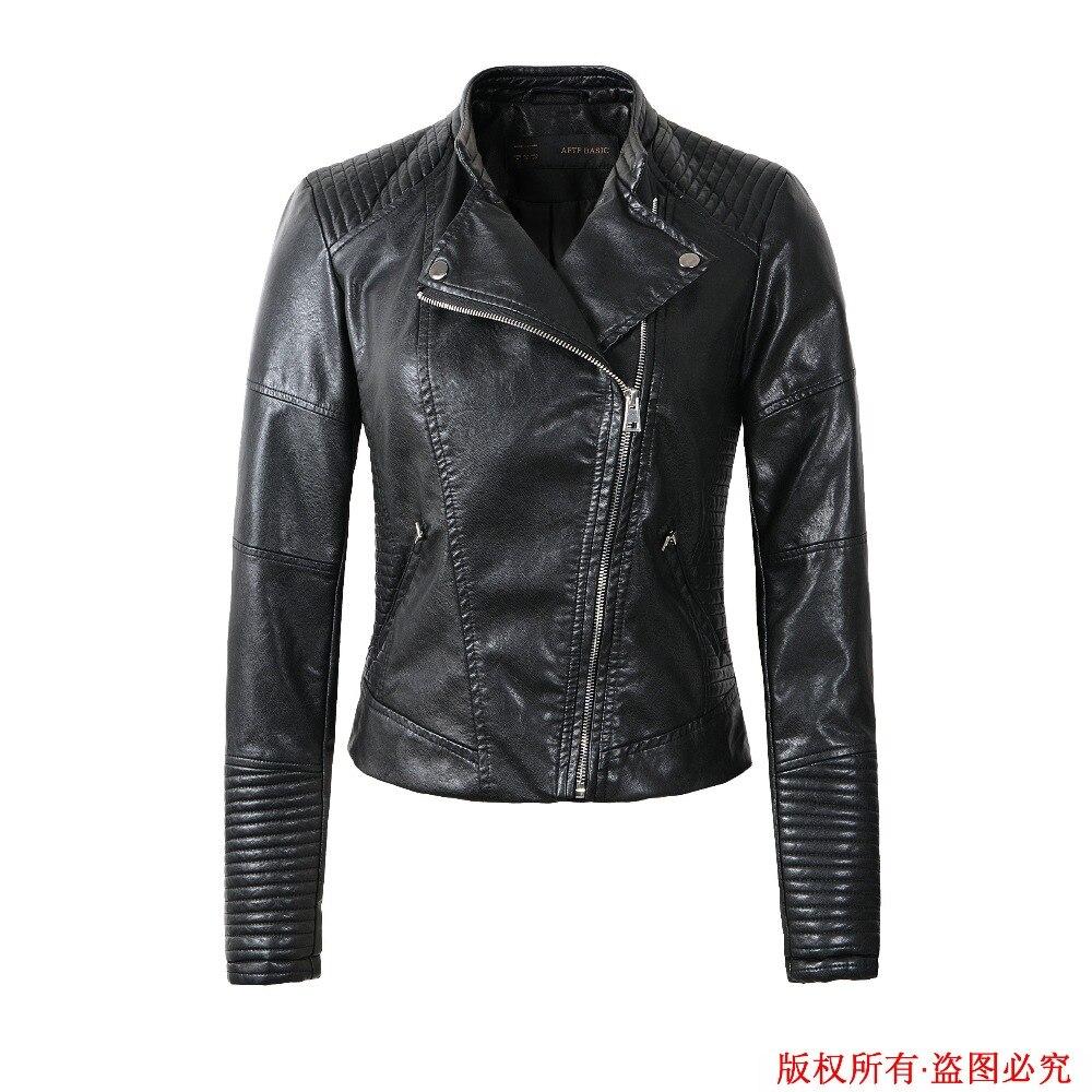 leather jacket women 2017 spring women leather clothing ...
