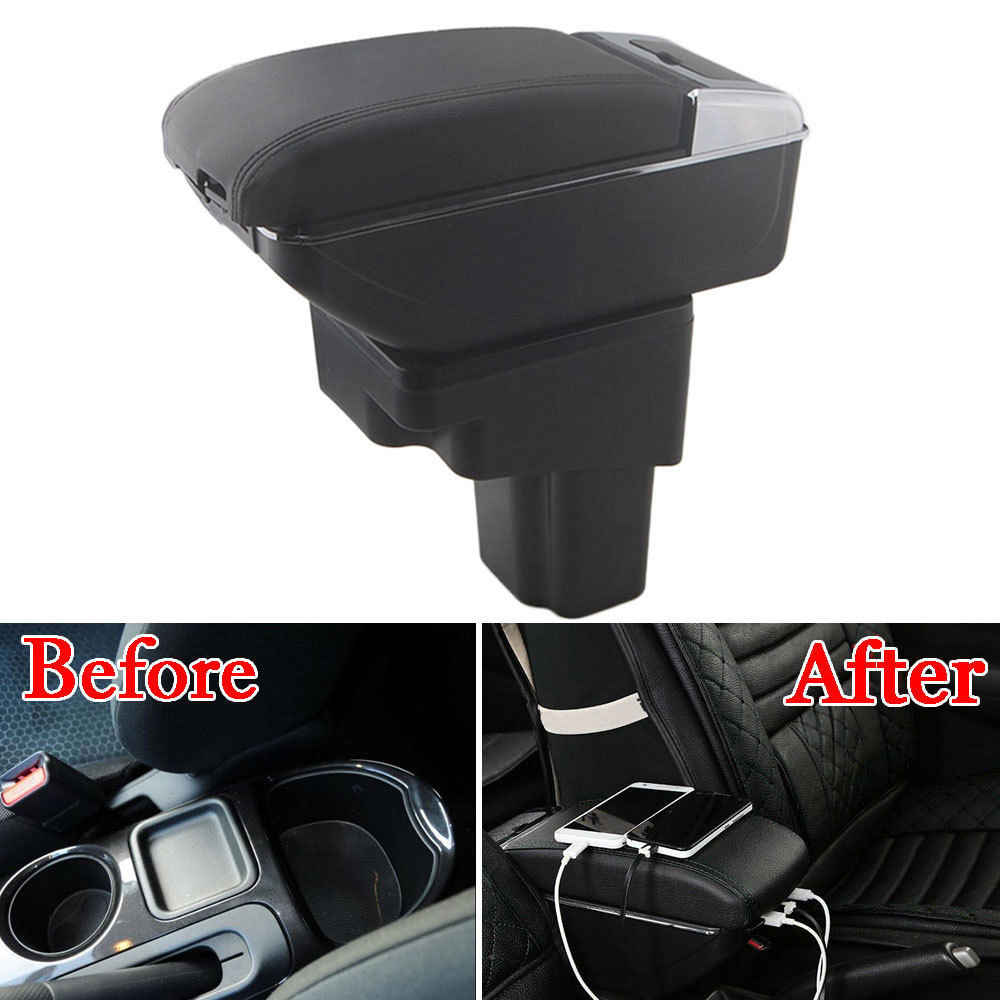 hight resolution of bbq fuka for 2011 2017 nissan juke pu leather armrest storage box tray center