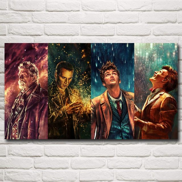 Doctor Who Television Series Art Silk Fabric Poster Print Home Decor Wall Painting 11×20 16×29 20×36 Inches Free Shipping