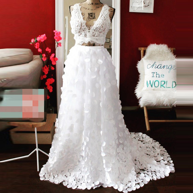 Unique Design Women Skirt Customized A Line Floor Length Full Maxi Skirt  Applique White Long Tulle Skirt Formal Wedding Style 6482bbe15fe1