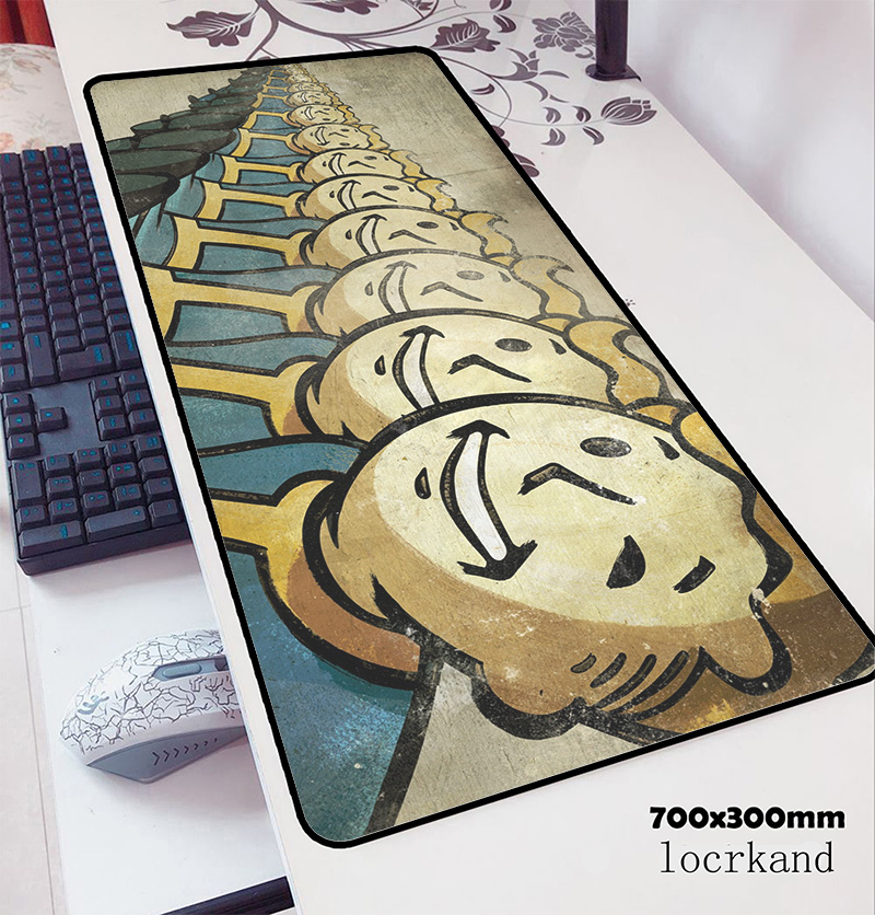 Fallout Mousepad 700x300x3mm Ergonomic Computer Mouse Mat Gamer Gamepad Pc Office Gaming Mousemat Desk Pad Office Padmouse