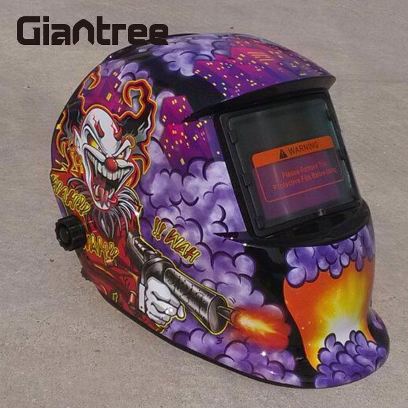 Giantree Solar Power Welders Helmet Auto Darkening Welding Helmet Mask Welder Grinding Helmet Mask Hood Protector Safety Helmet new solar power auto darkening welding mask helmet eyes shield goggle welder glasses workplace safety