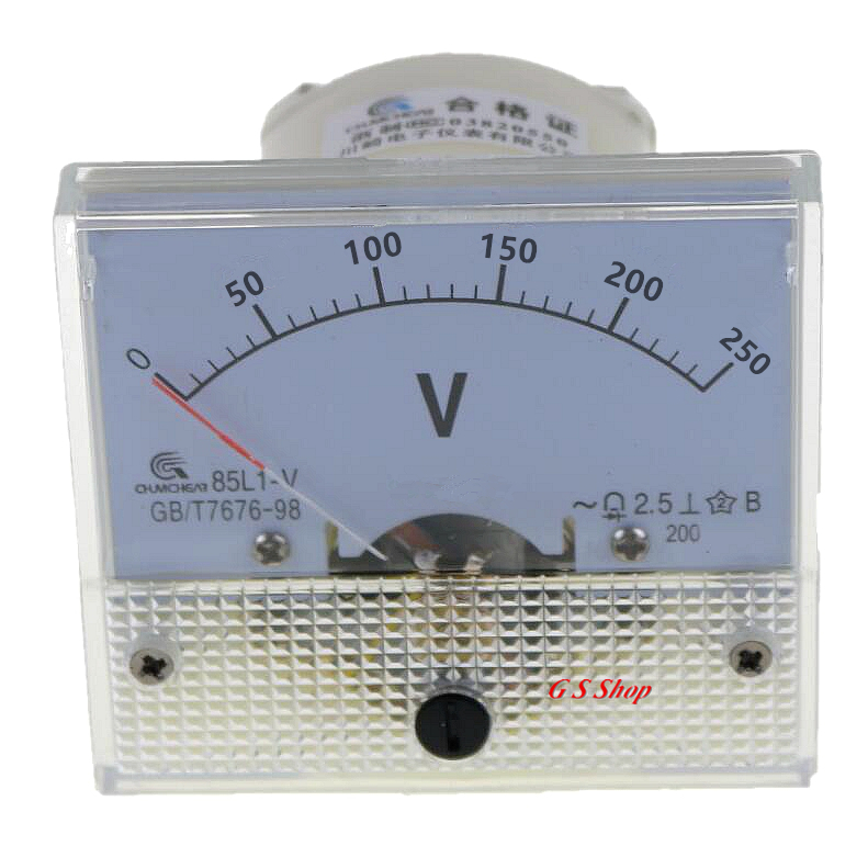 0-100V AC Volt anal/ógica Aguja panel de volt/ímetro ClearBlack