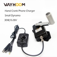 Portable Hand Crank Generator 30W Small Dynamo Outdoor Emergency Phone Charger With 0 28V DC DC Voltage Converter