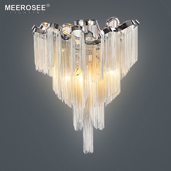 Französisch Kette Glanz Kronleuchter Beleuchtung Montage Bündig Montiert  Kronleuchter Lampe Für Foyer Esszimmer Restaurant Dekoration