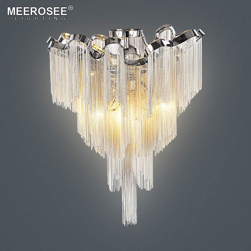 French Chain Luster Chandeliers Lighting Fitting Flush Mounted Chandelier Lamp For Foyer Dining Room Restaurant Decoration