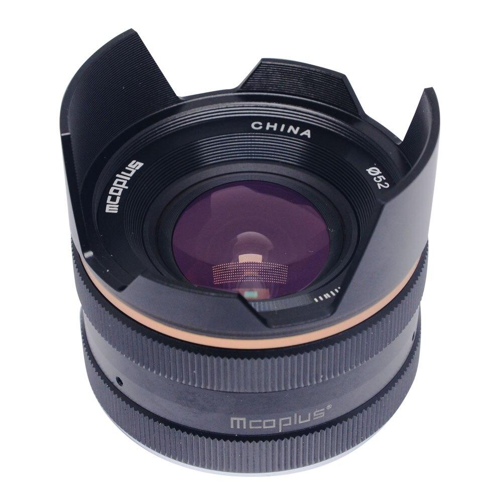 Mcoplus 14mm f/3.5 APS-C Ampio Angolo di Messa A Fuoco Manuale Obiettivo Macro per fotocamera Sony E-mount/per fuji X-mount/per M4/3 mount Mirrorless è venuto