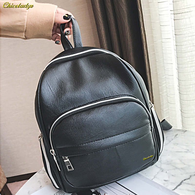 CCHICOLADYZ The new fashion women backpack students Special bag Large capacity travel leisure pack High quality leather solid