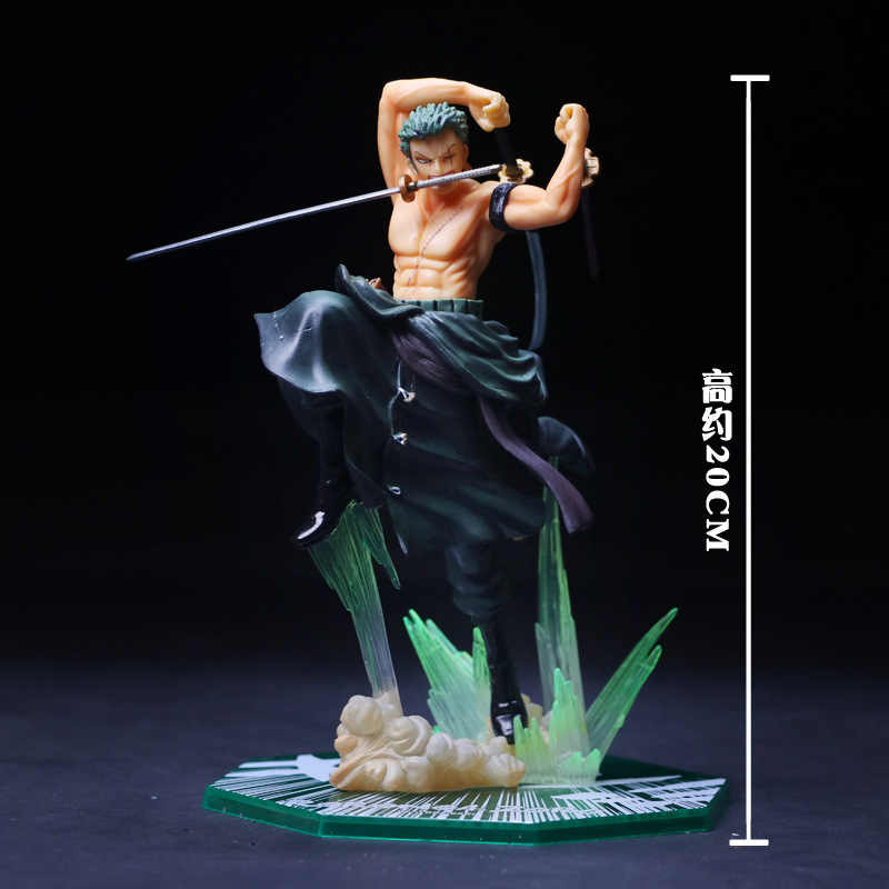 Alta Qualidade Anime One Piece 19 cm Roronoa Zoro PVC Action Figure Toy Model Collection